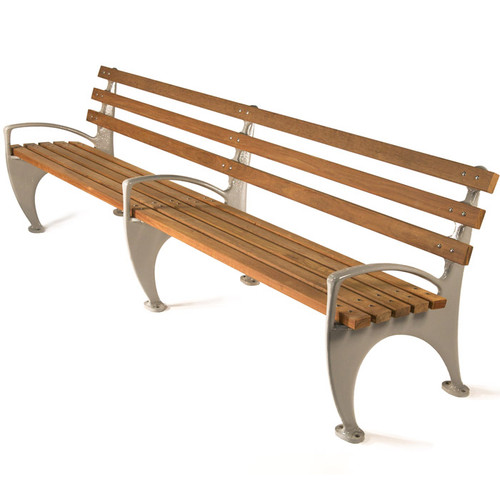 1964 Worlds Fair Bench with Integral Armrests