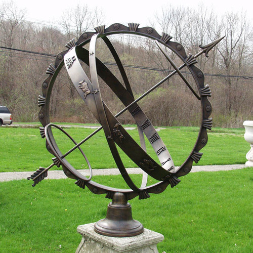 Armillary Sundial with Feathered Band