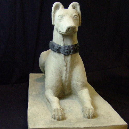 Whippet Dog with Lead Collar