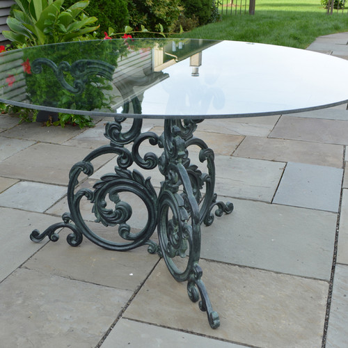 "Quick Ship - Acanthus Cafe Table with 36"" Glass top"