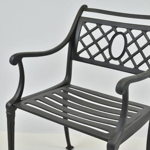 Sleigh arm chair