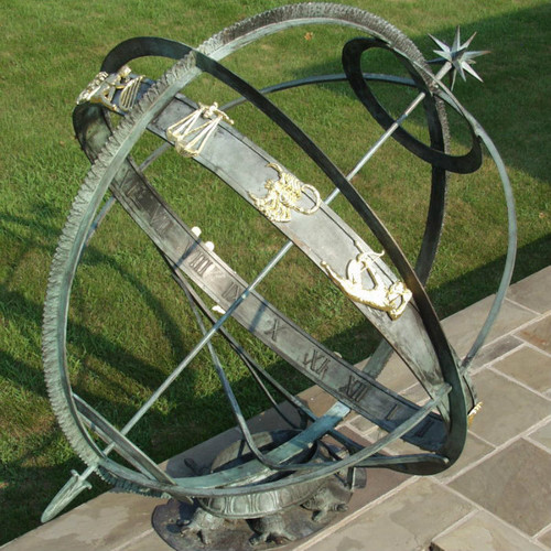 Armillary Sundial with signs of the Zodiac