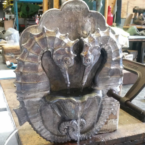 Seahorse Fountain Plaque