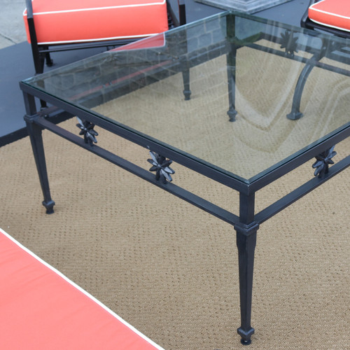 Quick Ship - Star Design Coffee Table with Glass top