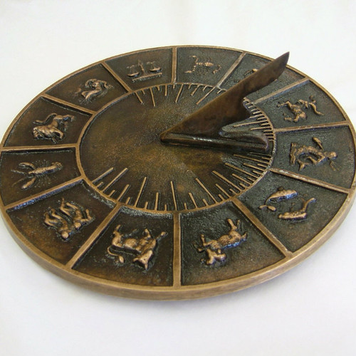 Quick Ship - Signs of the Zodiac Sundial