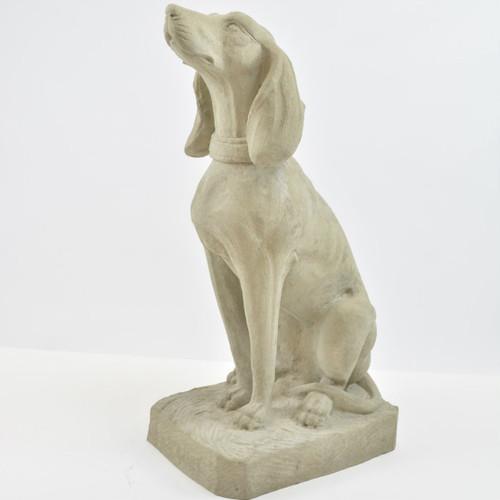 Quick Ship - Seated Hound Dog