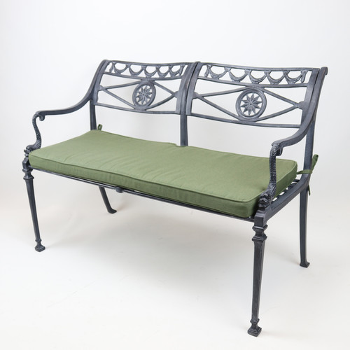 Quick Ship  - Star and Dolphin Double Settee with Slated Seat