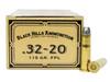 Surplus Ammo | Surplusammo.com 32-20 WCF 115 Grain Flat Point Lead Black Hills Cowboy Action - 50 Rounds, New BHDCB3220N1