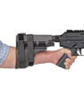 Human Arm and Pistol not included. This is a picture of intended usage only. Sig Sauer SB15 Pistol Stabilizing Brace AR-15 Pistol Arm Brace Surplus Ammo