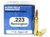 Surplus Ammo   Surplusammo.com .223 77 Grain Sierra Matchking HP Black Hills - 50 Rounds, Factory Reman BHD223R9