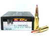Surplusammo.com | Surplus Ammo 6.5 Grendel 123 Grain ELD Hornady Black Ammunition - 20 Rounds HO81528