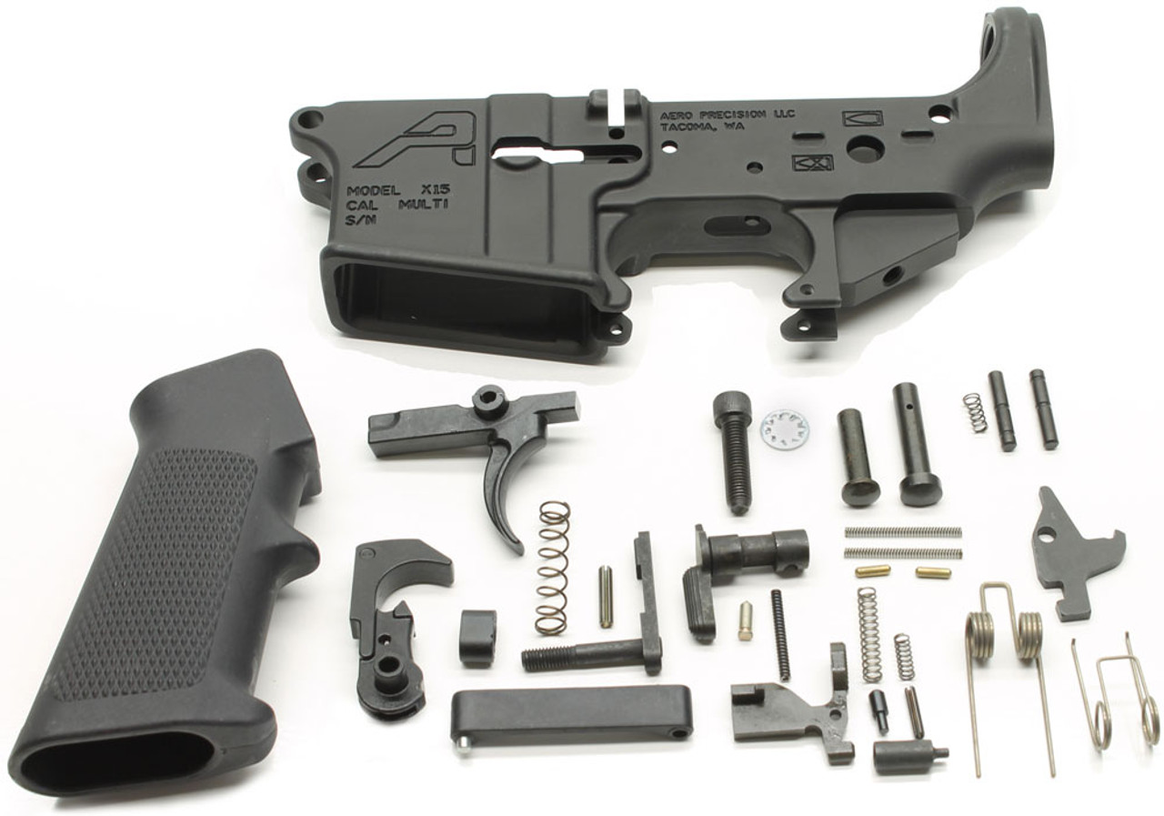Aero Precision X15 AR15 Gen 2 Stripped Lower Receiver & DPMS Lower Parts Kit