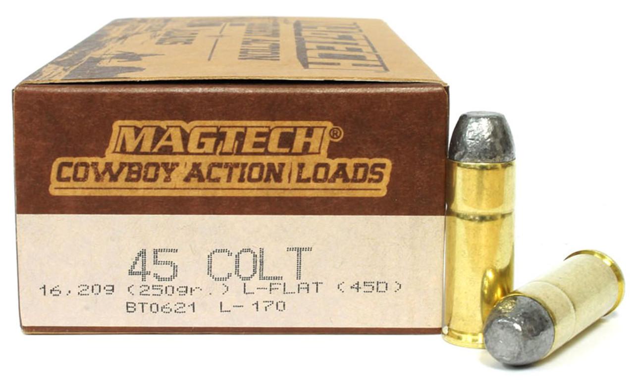 45 Long Colt 250 Grain Cowboy Action Magtech - 50 Rounds