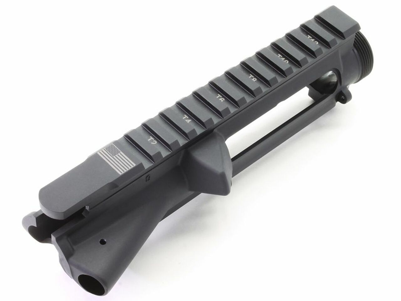SAA Forged AR15 Stripped Flat Top Upper Receiver - T-Marked & US Flag