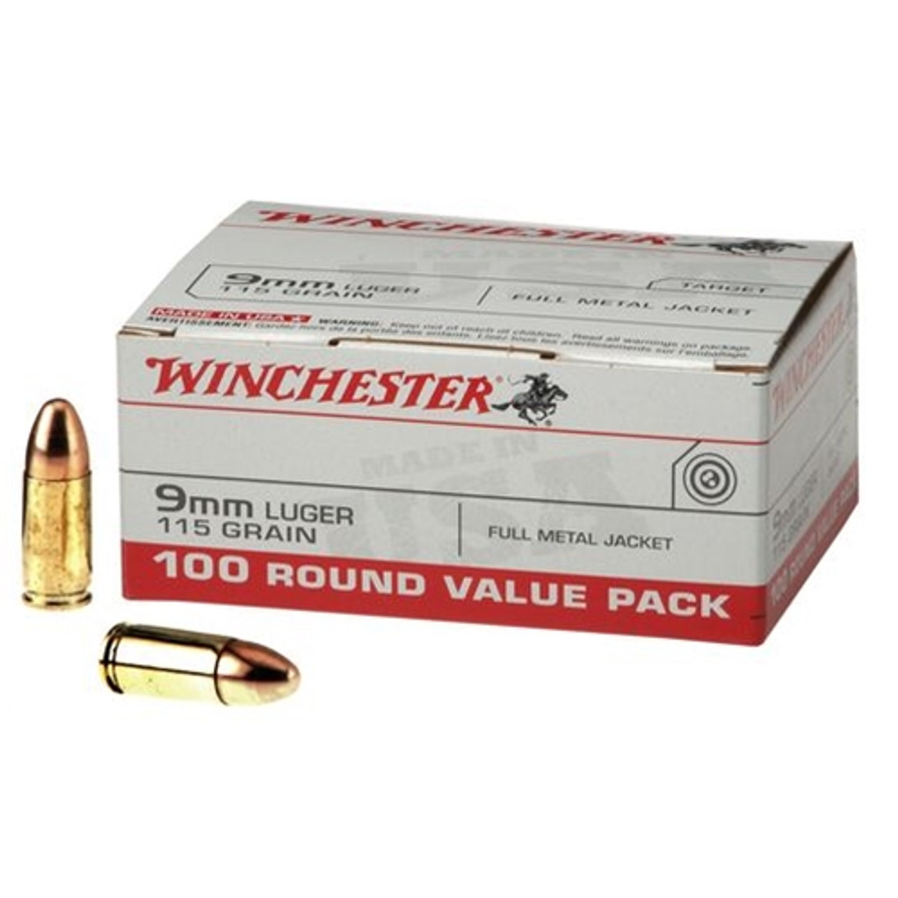 9mm 115 Grain Fmj Winchester Usa For Sale In Stock Surplus Ammo