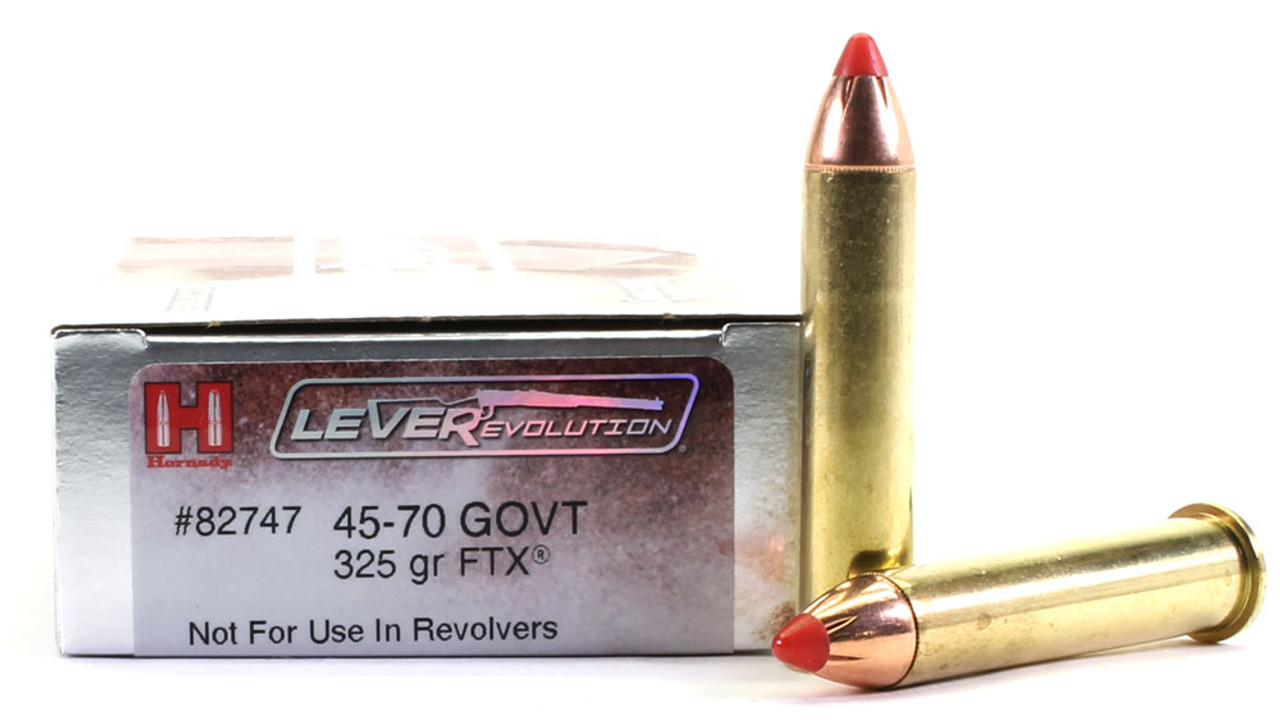45-70 Government 325 Grain FTX Hornady LEVERevolution - 20 Rounds