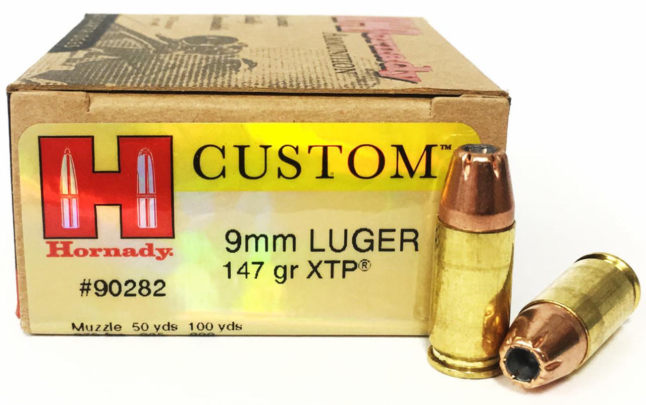 9mm 147 Grain XTP JHP Hornady Custom - 25 Rounds