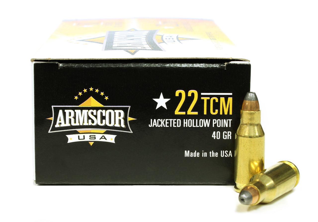 22 TCM 40 Grain JHP Armscor USA - 50 Rounds