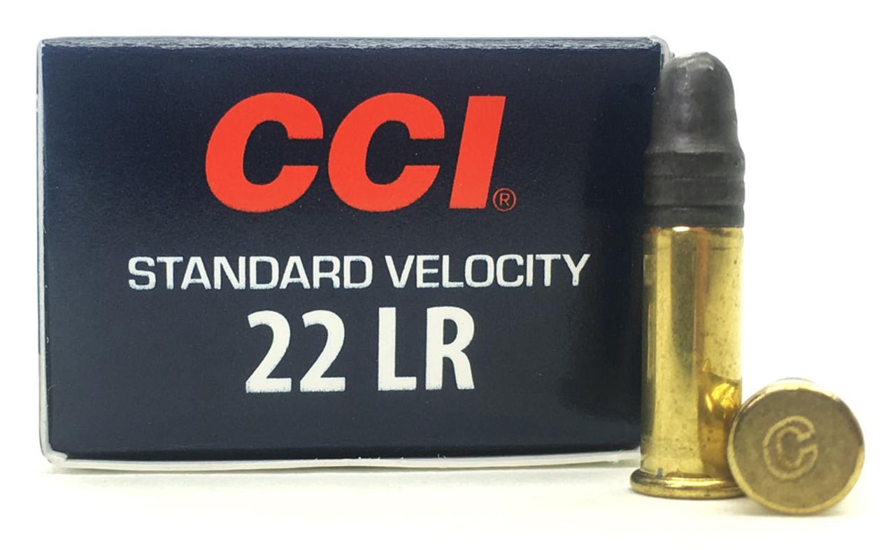 22 lr cci standard velocity 500rd 40 grain lead round nose ammo