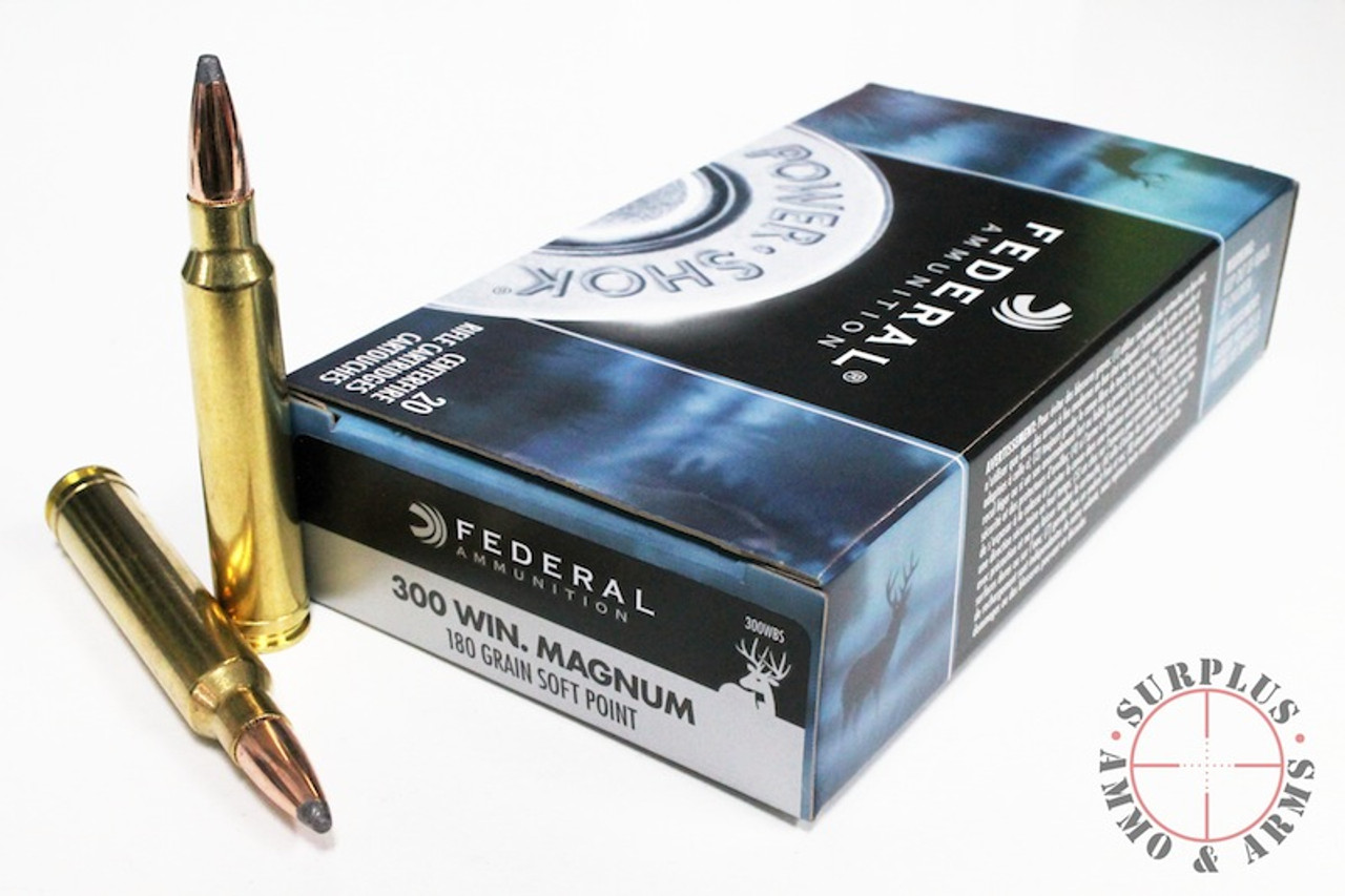 300 Win Mag 180 Grain SP Federal Power-Shok - 20 Rounds