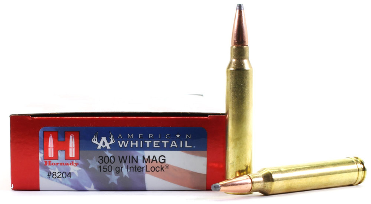 300 Win Mag 150 Grain Interlock SP Hornady American Whitetail - 20 Rounds