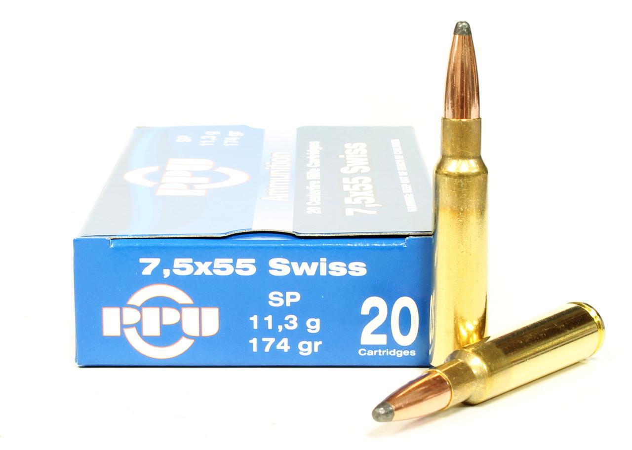 7 5x55mm Swiss 174 Grain Sp Prvi Partizan Ammunition For Sale In Stock Surplus Ammo