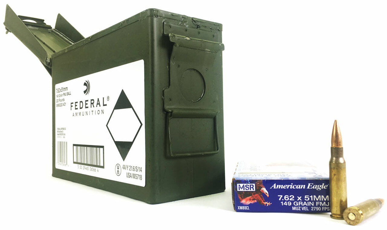 Federal Lake City Xm80220 Ac1 7 62x51 Nato 308 Win M80 Ball 149 Grain Fmj Ball Ammo For Sale In Stock Surplus Ammo