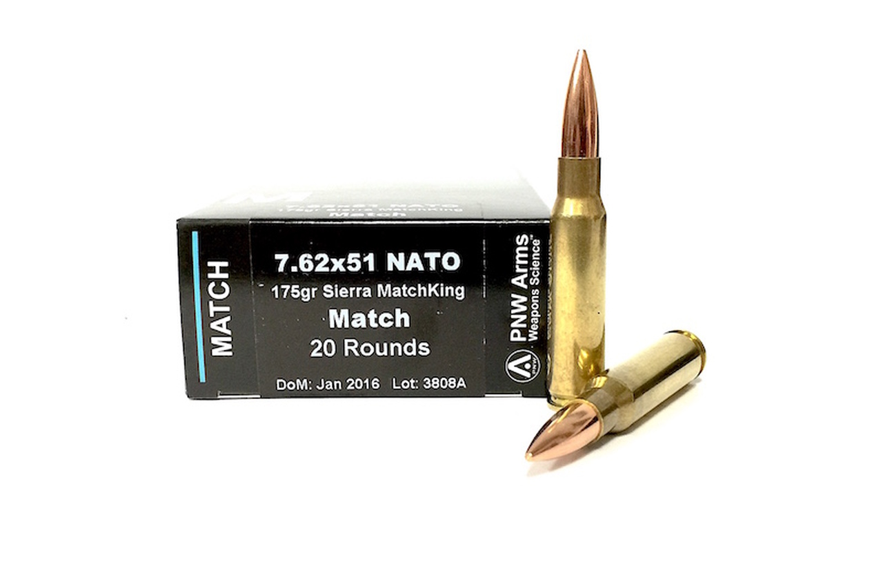 7 62x51 175 Grain Sierra MatchKing HP PNW Arms - 200 Rounds