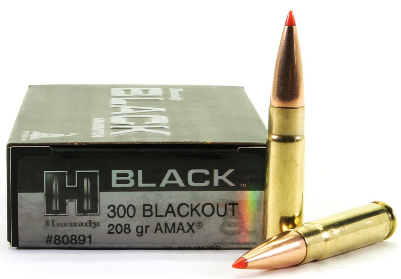 300 AAC Blackout 208 Grain A-MAX Hornady Black Ammunition - 20 Rounds