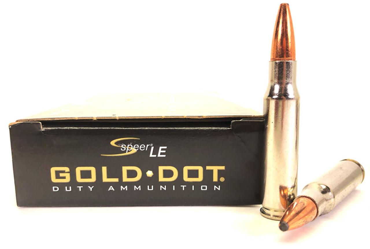 308 Win 168 Grain Gold Dot SP Speer CCI Law Enforcement - 20 Rounds