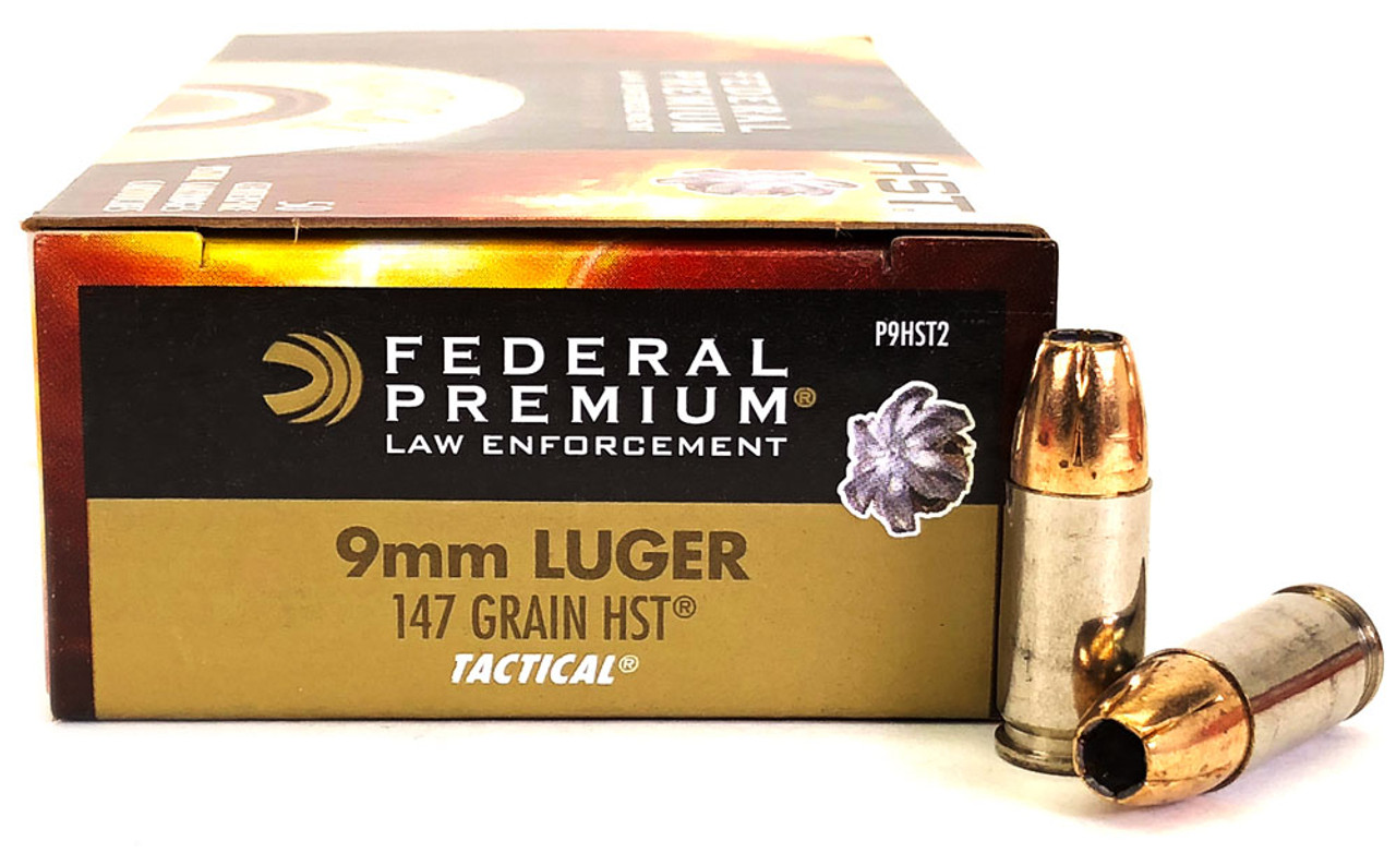 9mm 147 Grain Tactical HST HP Federal Premium - 50 Rounds