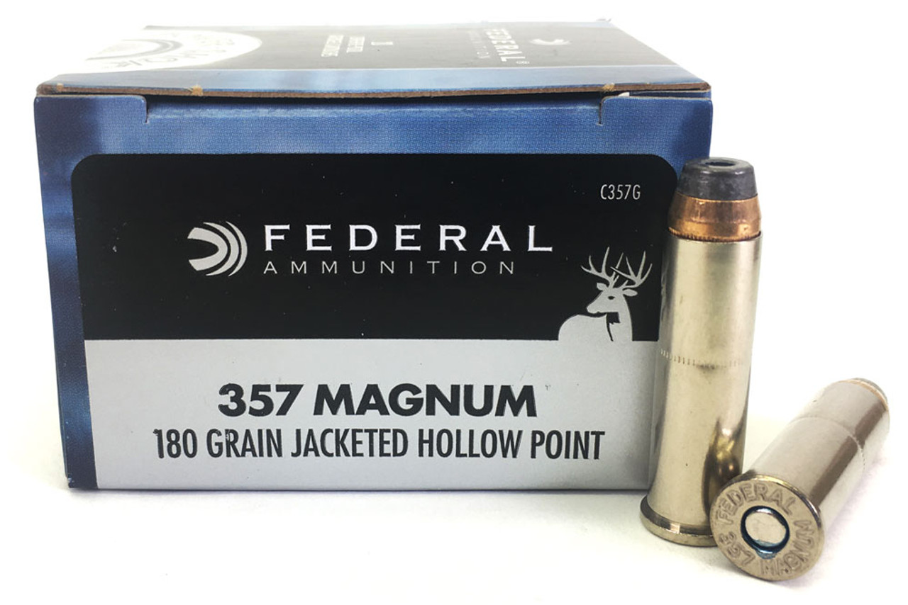357 Magnum 180 Grain JHP Federal Power-Shok Ammunition - 20 Rounds