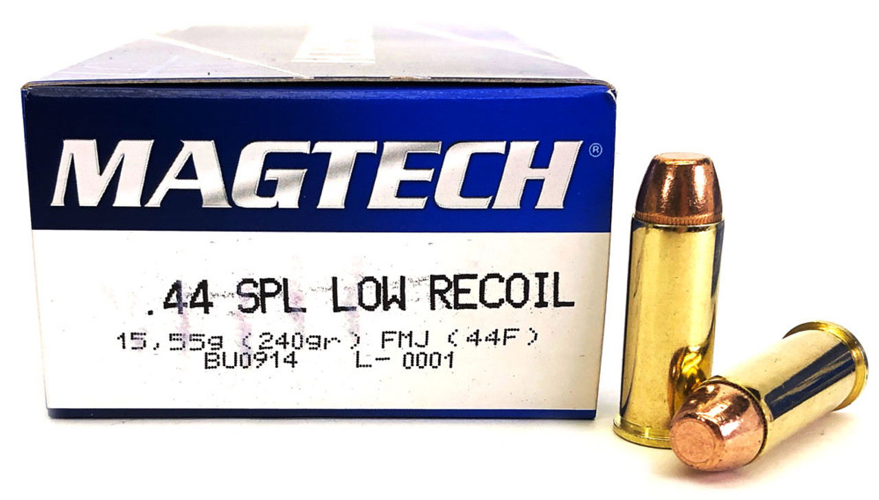 44 Special 240 Grain FMJ Magtech Low Recoil - 50 Rounds