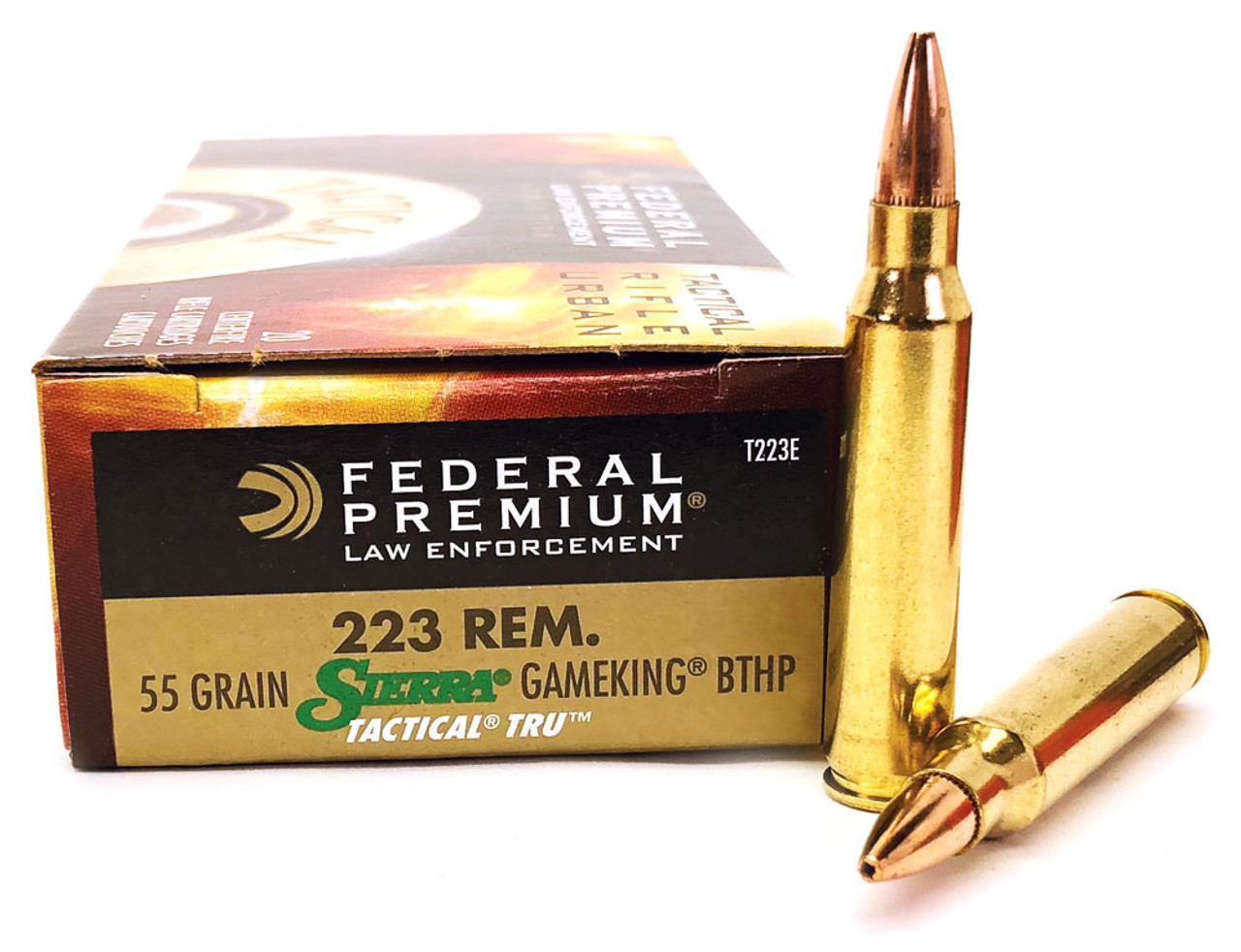 223 55 Grain Sierra GameKing HP Federal LE Tactical TRU - 20 Rounds