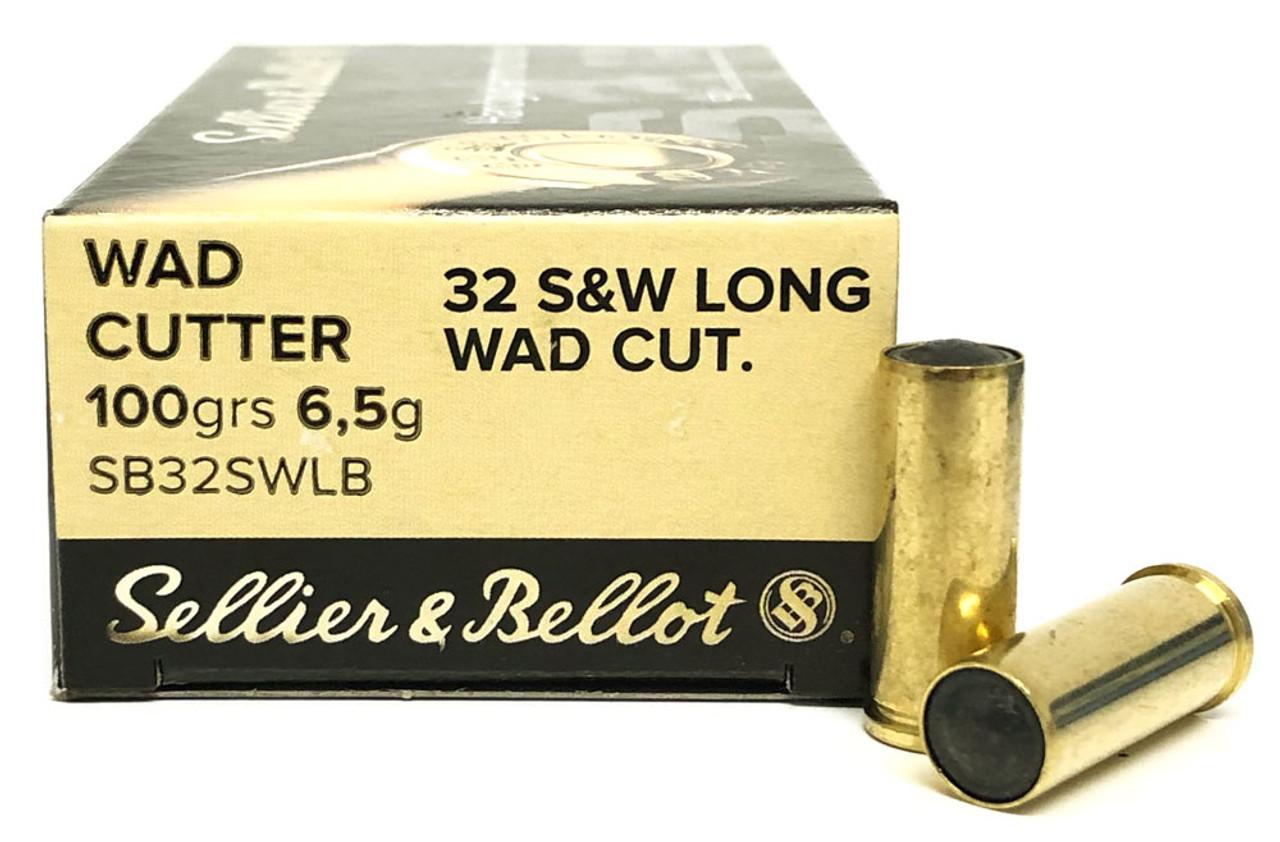 32 S&W Long Sellier & Bellot 100 Grain Wad Cutter SB32SWLB - 50 Rounds