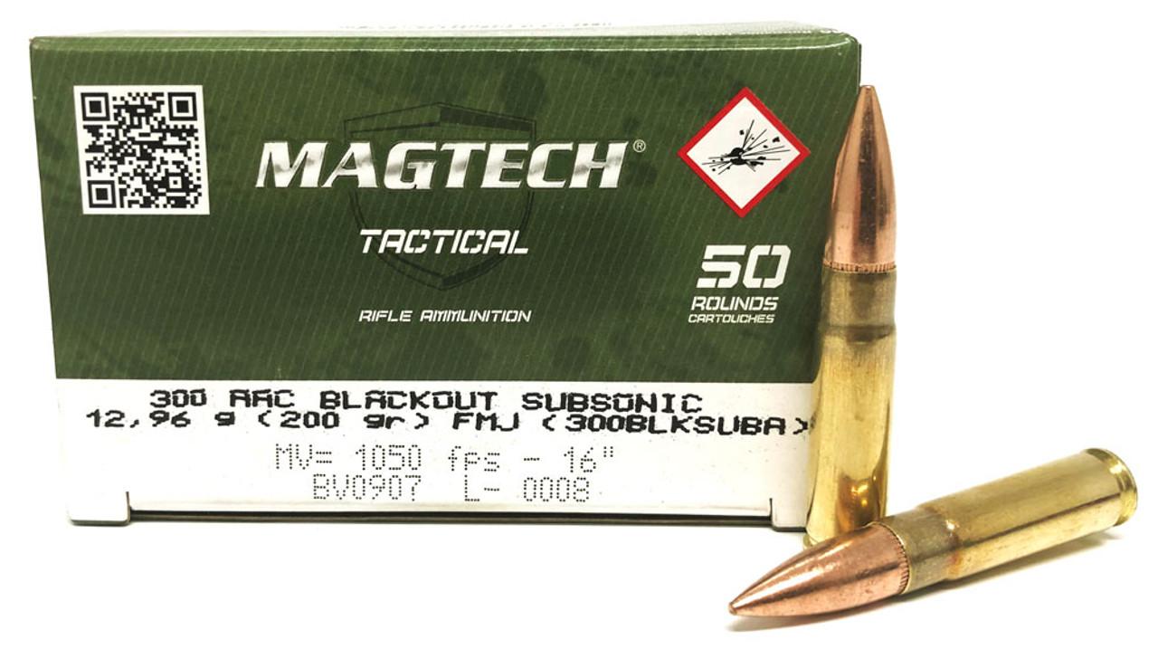 300 AAC Blackout 200 Grain SUBSONIC FMJ Magtech - 50 Rounds