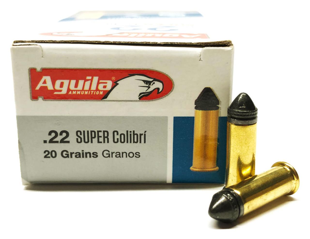 22 LR Aguila Super COLIBRI 20 Grain Subsonic Powderless - 50 Round Box