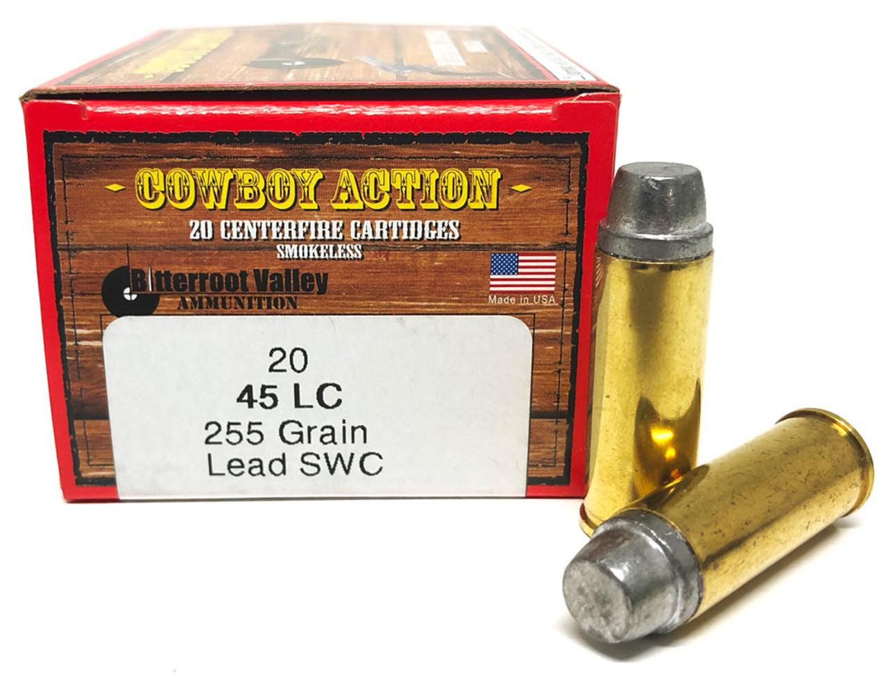 45 Long Colt 255 Grain Lead SWC BVAC Cowboy Action - 20 Rounds, NEW