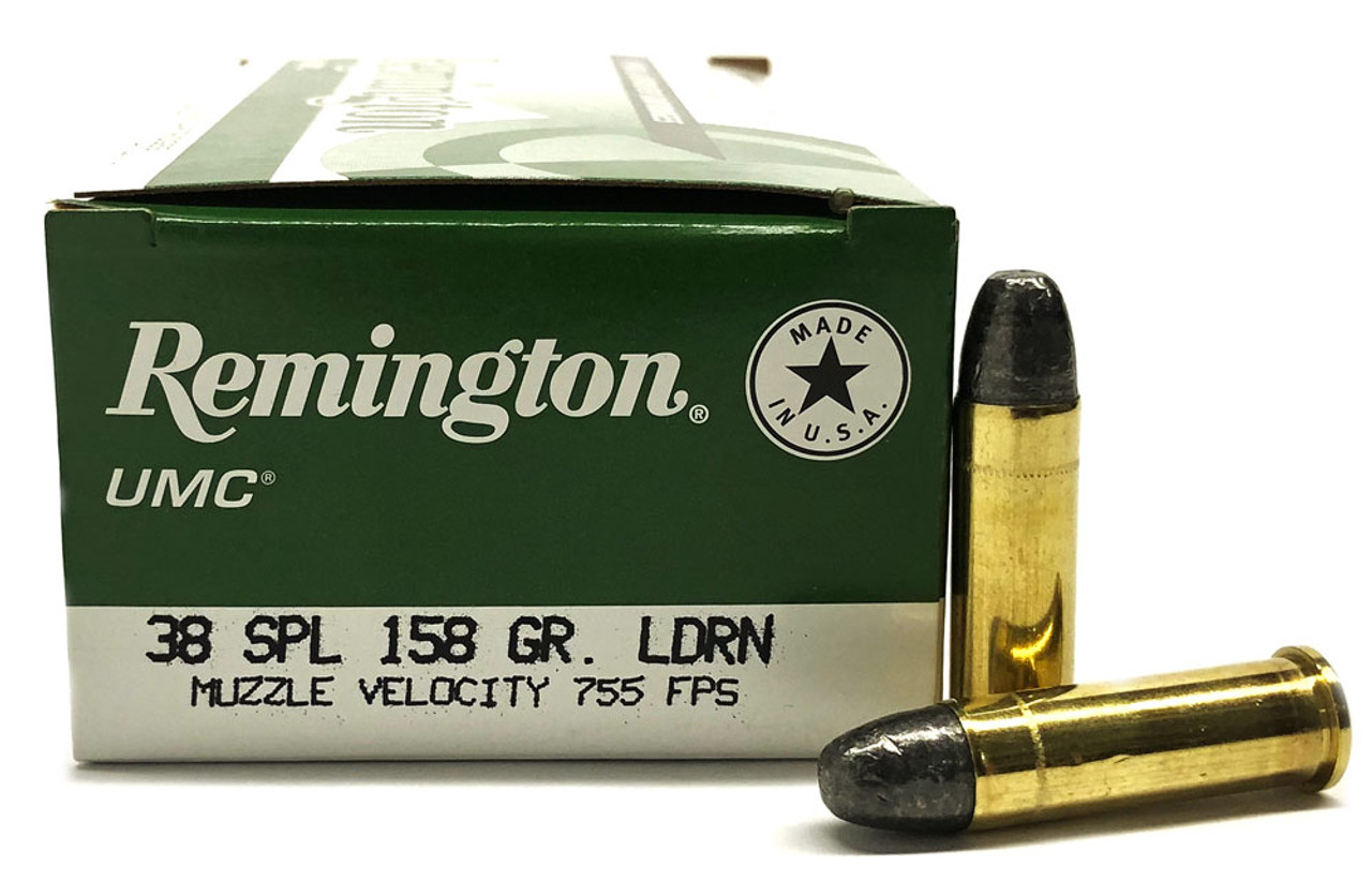 38 Special 158 Grain LD (Lead) Remington UMC - 50 Rounds