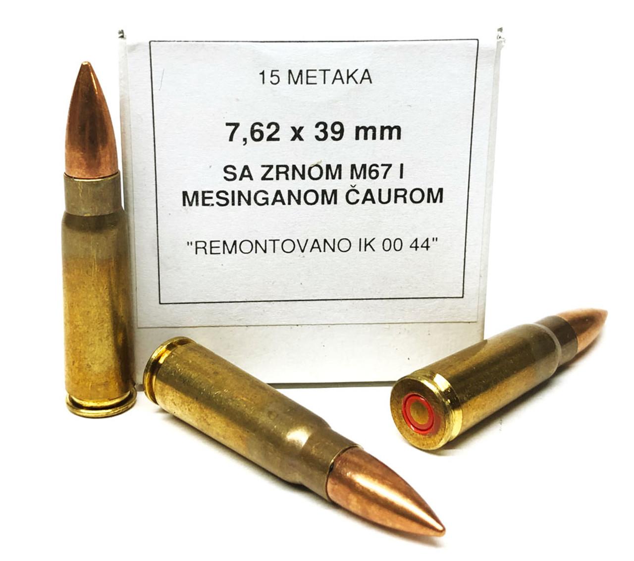 Yugo Surplus M67 7 62x39 124gr Fmj Copper Jacketed Lead Core Non Corrosive Brass Cased 15 Rd Box Ammunition Cheap At Surplusammo Com