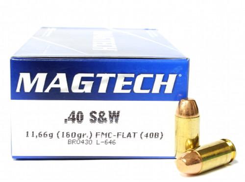 Surplus Ammo, Surplusammo.com 40 S&W 180 Grain FMJ Magtech Ammunition