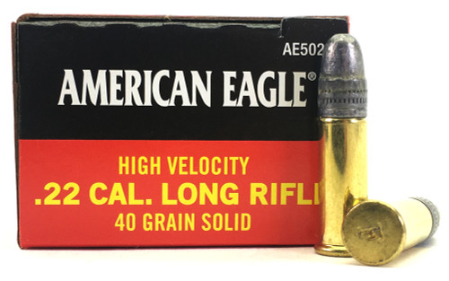 22 LR Federal American Eagle 40 Grain High Velocity Solid Point - 50 Rounds FDAE5022