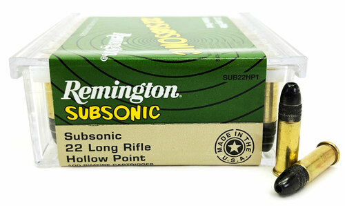22 LR Remington Subsonic 38 Grain Hollow Point - 100 Rounds RMSUB22HP1