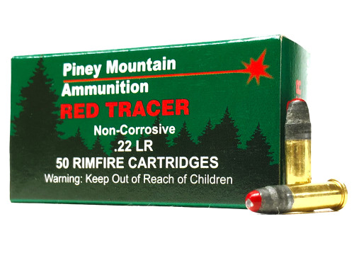 22 LR Piney Mountain RED Tracer Ammo - 50 Rounds PMTRCRRD