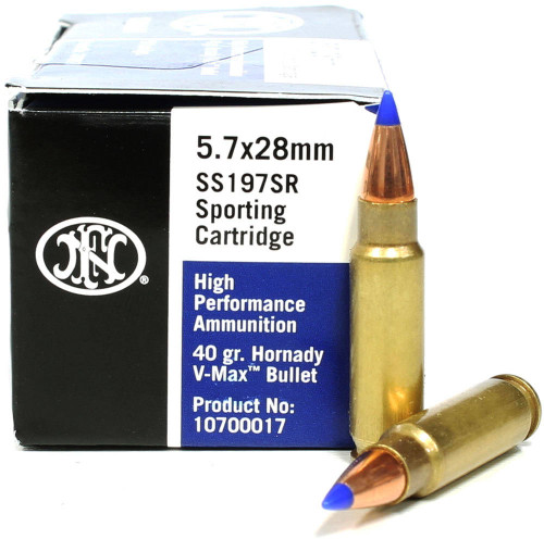 Surplus Ammo | Surplusammo.com 5.7x28mm 40 Grain V-Max FNH SS197SR Ammunition