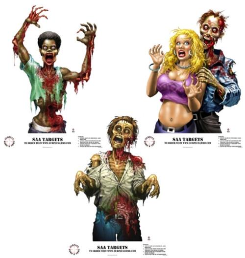 SAA Zombie Targets Zombie Betty, Bob & Tom surplusammo.com