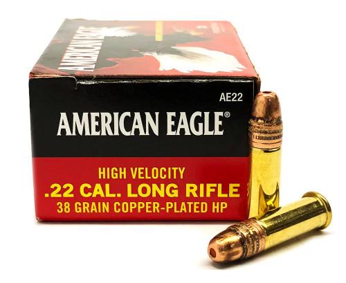 22 LR Federal American Eagle 38 Grain High Velocity Hollow Point FDAE22