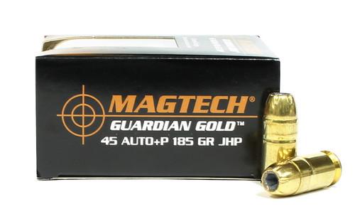 Surplus Ammo | Surplusammo.com  45 ACP 185 Grain JHP +P Magtech Guardian Gold Ammunition