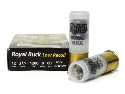 "12 Gauge Rio Royal 00 Low Recoil Buckshot 2 3/4"" Shotgun Shot Shell Ammunition RBLR129"