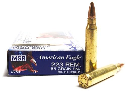 .223 55 Grain FMJ-BT Federal American Eagle AE223J FDAE223J